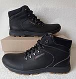 Мужские зимние кожаные ботинки большого размера качественные и удобные, фото 5