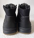 Мужские зимние кожаные ботинки большого размера качественные и удобные, фото 7