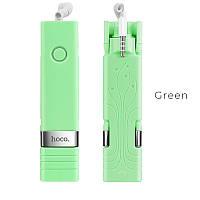 Monopod cable 3.5mm Hoco K3 Green Гарантия 3 месяца