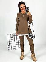 Жіночий яскравий спортивний костюм трехнить на флісі в кольорах (Норма), фото 6