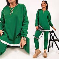 Жіночий яскравий спортивний костюм трехнить на флісі в кольорах (Норма), фото 10