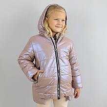 20403роз Зимняя курточка для девочки розовая тм Одягайко размер 104,116 см