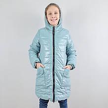 20313гол Зимняя куртка для девочки подростка Голубая тм Одягайко размер 146,152,158,164 см