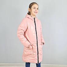 20313роз Зимняя курточка на девочку подростка розовая тм Одягайко размер 146,158,164 см