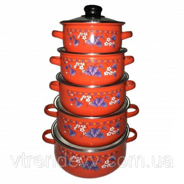 Набір посуду Unique UN-2356 Червоні Уцінка