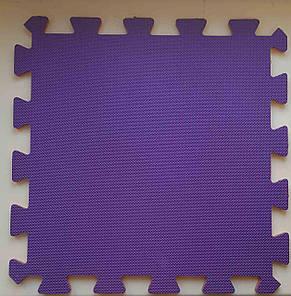 Мягкий пол пазл 300*300*8 мм  двухсторонний зелено-синий, фото 2