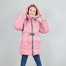 20443пуд Зимняя куртка для девочек пудра тм Одягайко размер 140,152,158 см