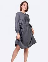Стильное платье из французского трикотажа серого цвета