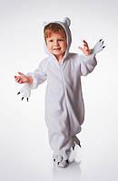 Новогодний костюм - костюм Белого мишки 110р.