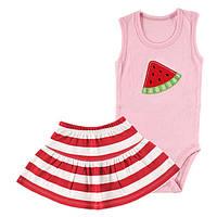 Детский летний комплект для девочки  6-9 месяцев