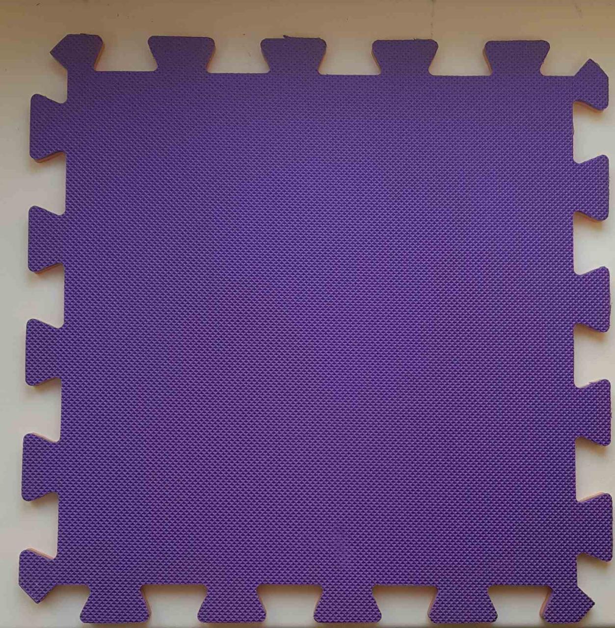 Мягкий пол пазл 300*300*8 мм двухсторонний оранжево-фиолетовый