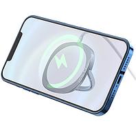 Беспроводная настольная магнитная зарядка для iPhone 12 QI HOCO Magnetic CW35  15W   Белый