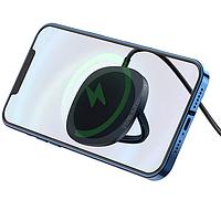 Беспроводная настольная магнитная зарядка для iPhone 12 QI HOCO Magnetic CW35  15W   Черный
