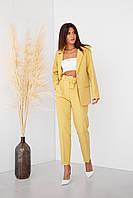 Костюм модный с пиджаком на подкладке и брюки длинные со стрелками