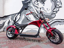 Электробайк Чопер 3000 W, 40 A/H, 60 V, Красный (запас хода 100 км)