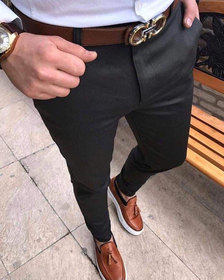 Чоловічі штани молодіжні (темно-сірі) якісні завужені донизу sD25