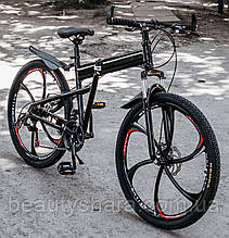 Велосипед гірський на литих дисках 21 швидкість, Білий складний дорослий дитячий підлітковий
