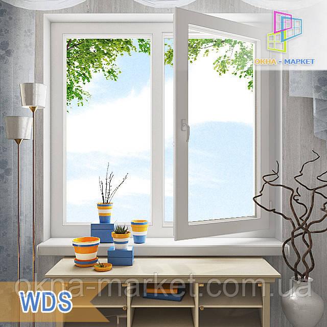 """Двостулкові вікна 1200x1400 WDS 6 Series eco склопакет однокамерний/двокамерний Окна Маркет"""""""
