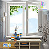 "Двустворчатые окна 1200x1400 WDS 400 eco стеклопакет однокамерный/двухкамерный ""Окна Маркет"""