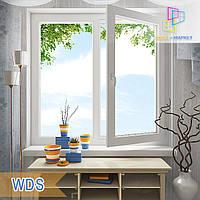 """Двустворчатые окна 1200x1400 WDS 5 Series eco стеклопакет однокамерный/двухкамерный """"Окна Маркет"""""""