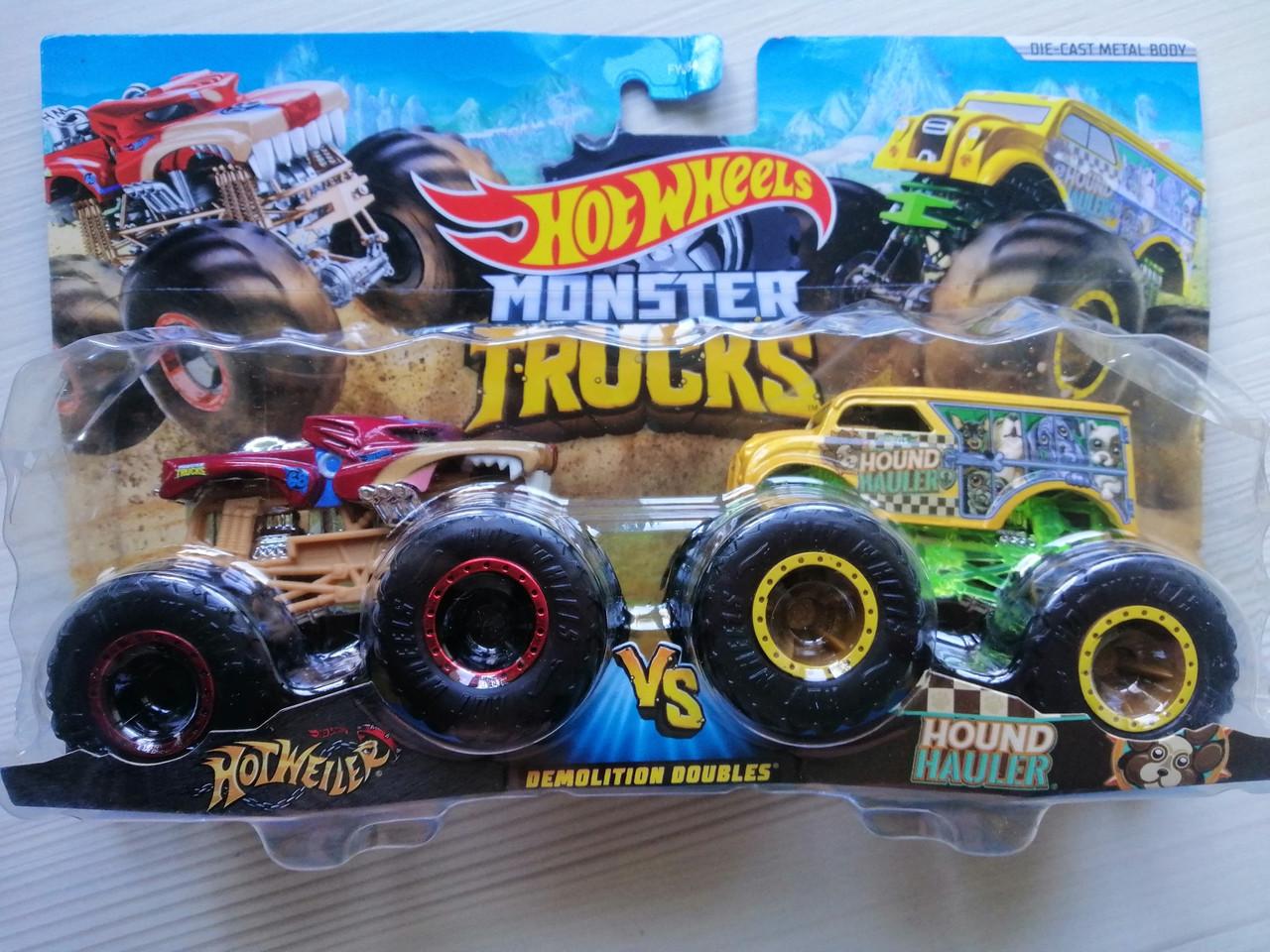 Набор из 2 автомобилей-внедорожников серии Monster Trucks, Raijyu, Kovmori - Hot Wheels Mattel