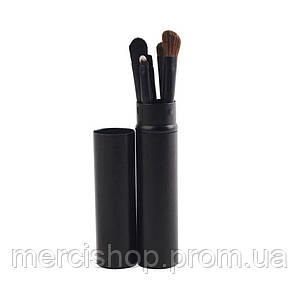 Набор кистей для макияжа в металлическом чехле
