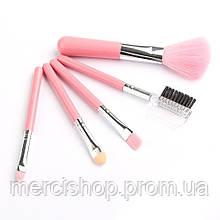 Набор мини-кистей для макияжа ( Розовый )