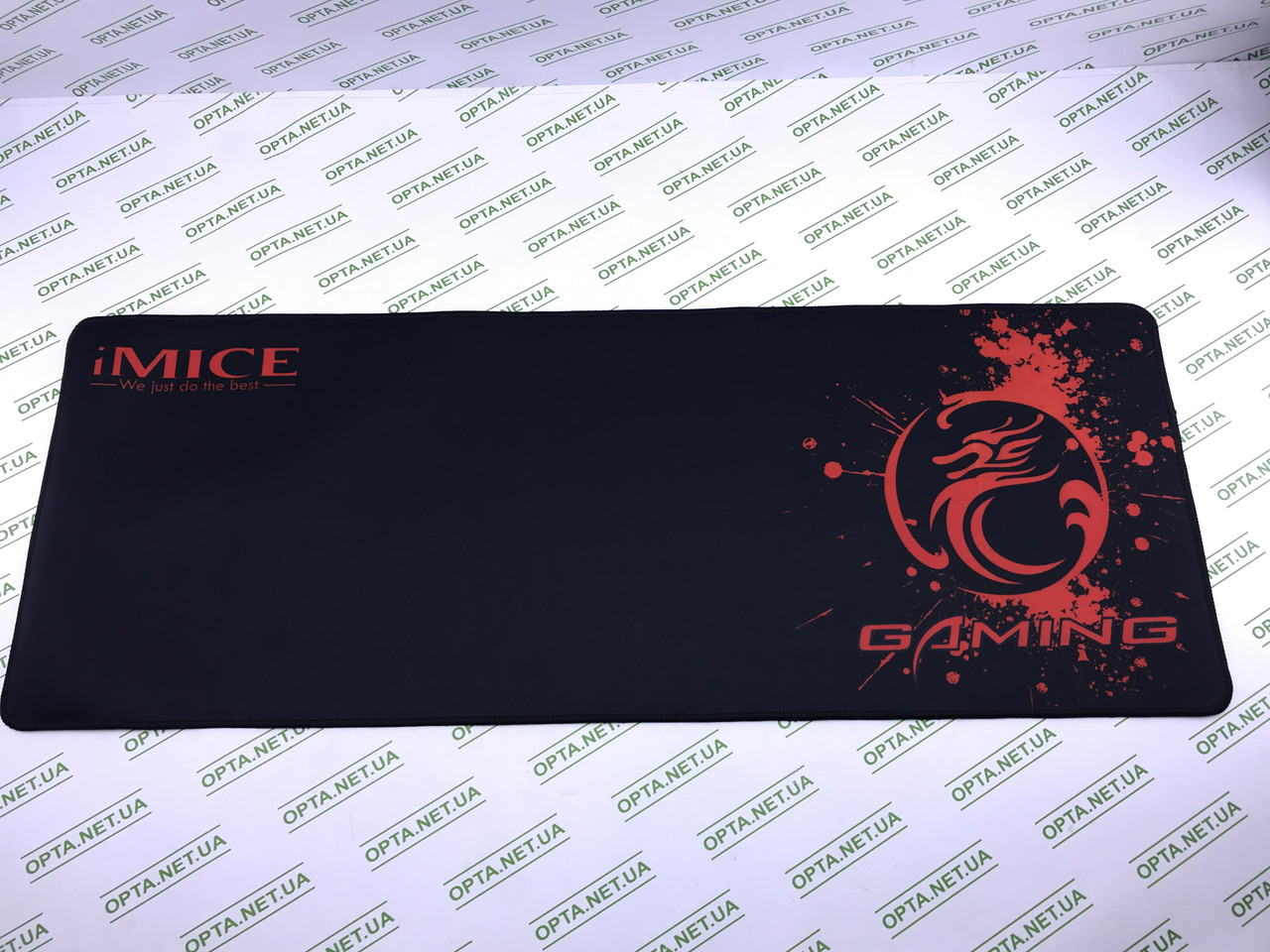 Килимок 300*800 для миші iMICE PD-03 тканинний, 4 мм, Black-red