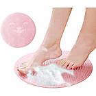 Антискользящий круглый коврик для ванной на липучках. Щетка-коврик для ванной, фото 2