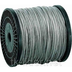 Трос для растяжки в оплетке ПВХ, стальной трос в оплетке ПВХ d=1,5 мм DIN 3055, фото 2