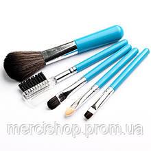 Набор мини-кистей для макияжа ( Синий )