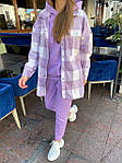 Женский костюм, трехнить,кашемир, р-р S, M, L (фиолетовый), фото 9