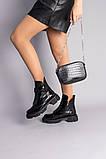 Черевики жіночі наплак чорні зимові, фото 5