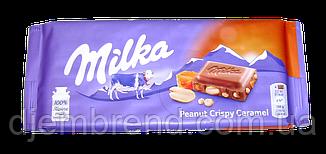 Шоколад Peanut Crispy Caramel Milka, 90 гр.