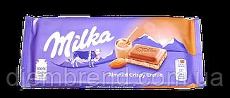 Шоколад Almond Crispy Creme Milka, 90 гр.