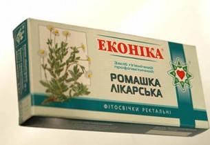 Свечи ромашка лекарственная, Эконика