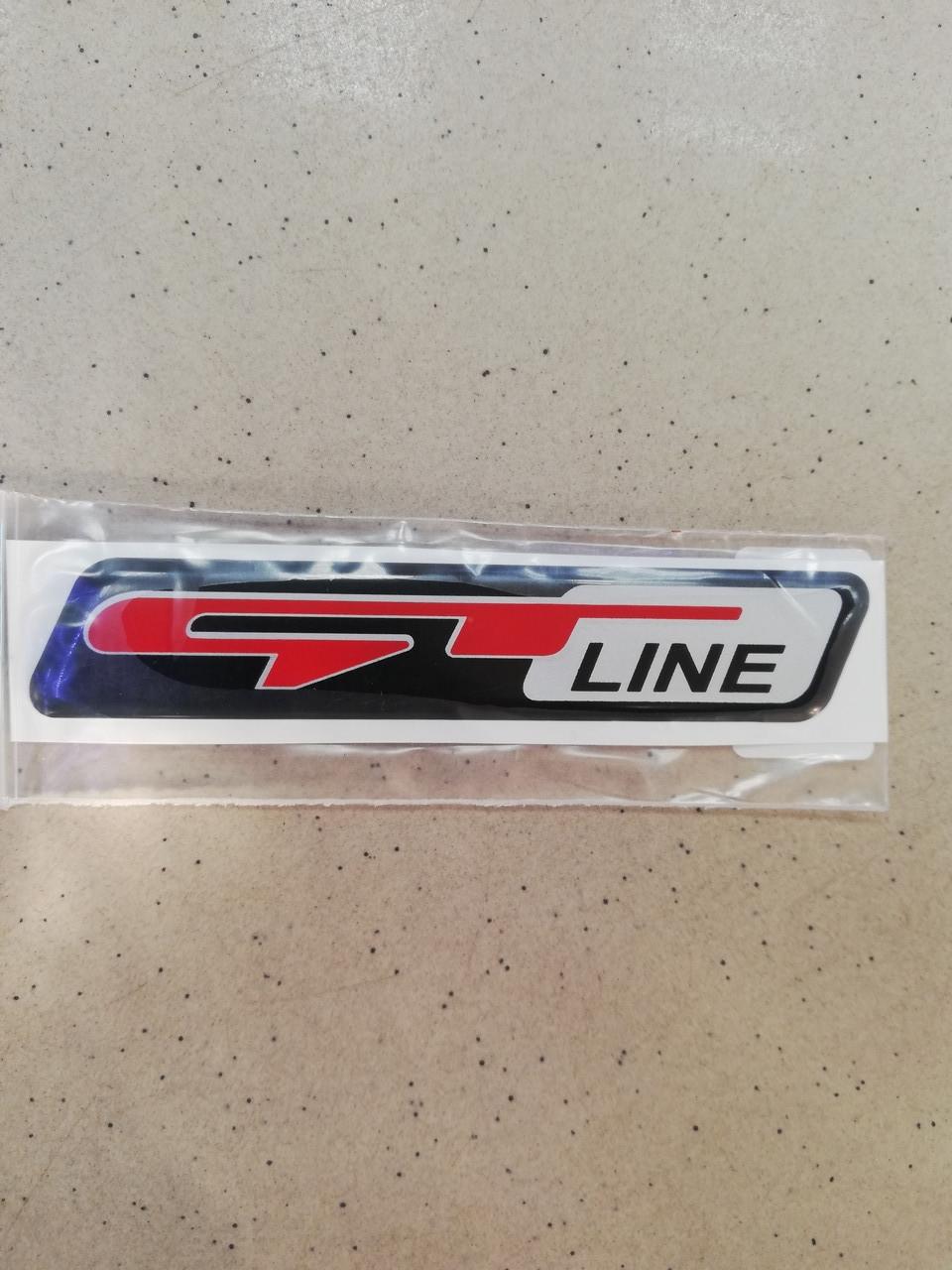 Силіконова 3D наклейка GT LINE 12х2,2 см