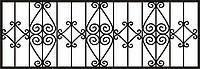 Забор для клумбы кованый