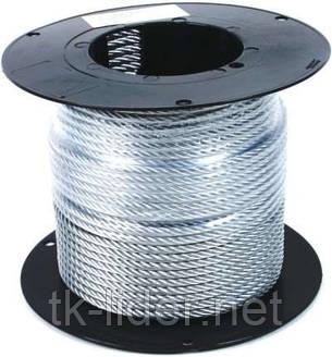 Трос оцинкованный стальной 1х19 d=1,5мм DIN 3053, фото 2