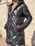 Жіноча куртка, плащівка, р-р S, M, L (чорний), фото 3