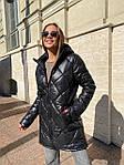 Жіноча куртка, плащівка, р-р S, M, L (чорний), фото 6