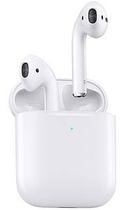 Навушники Епл AirPods 2, Бездротові bluetooth-навушники для Iphone (Люкс копія 1в1) з кейсом, Білі