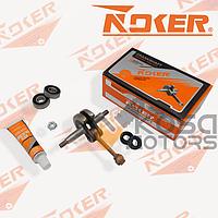 Колінвал 36 бензокоси к-кт сальники + підшипники + гайка маховика ( NOKER)