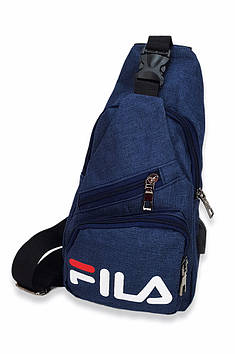 Бананка через плече FL тканинна синя 117725T