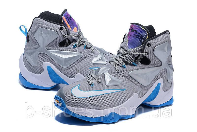 Мужские баскетбольные кроссовки Nike Lebron 13 (Grey)
