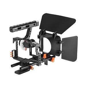 Клетка YELANGU C500 (F500) универсальная со следящим фокусом, рельсами, направляющими для фотоаппаратов