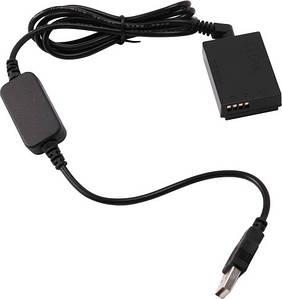USB адаптер живлення ACK-E12 для Canon EOS M, M2, M3, M10, M50, M50 Mark II, M100, M200 (акумулятор LP-E12)