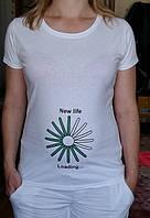 футболки для беременных прямая цифровая печать