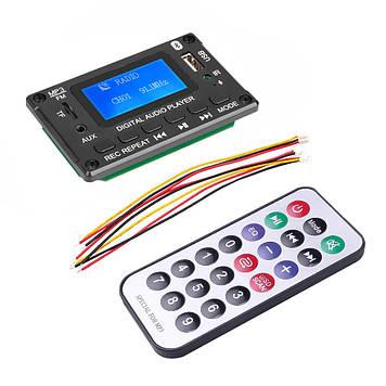 Mp3 модуль с bluetooth 5.0, FM радио, USB, microSD, встроенным микрофоном, LCD дисплеем, модель JQ-D116BT