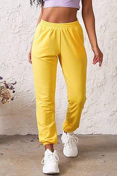 Спортивні штани жіночі чорні жовті AAA 131570T